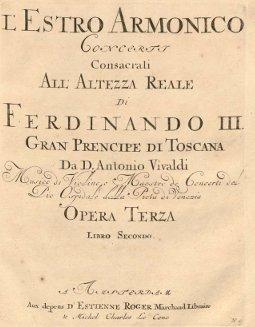 Edition originale de l'estro armonico