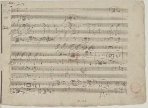 Autographe du Trio K.498