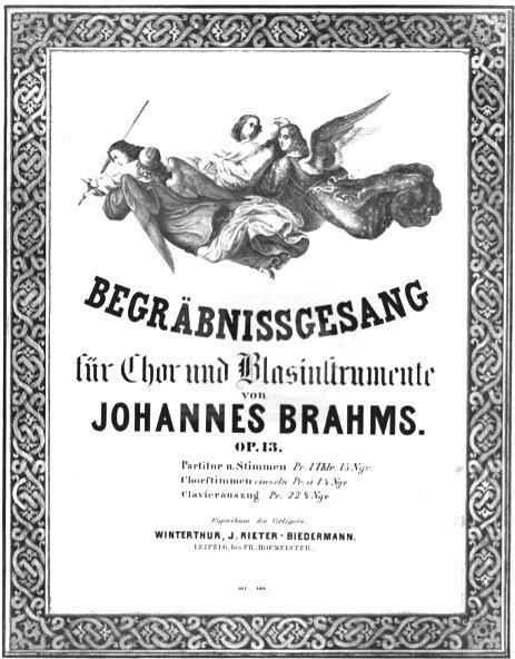 Brahms begräbnisgesang