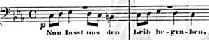 Thème d'introduction du chant de funéraille  op.13 de Brahms
