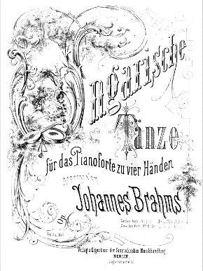 Brahms - Danses hongroises - ed Simrock Source: Bibliothèque Musicale Petrucci