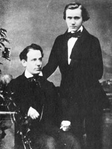 Eduard Remenyi et Johannes Brahms en 1852