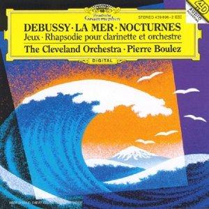 Couverture de l'album La mer, de Debusy, par Boulez
